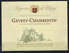 Etiquette Vin de Bourgogne - Gevrey Chambertin - New - Never Stuck - Réf.n°66