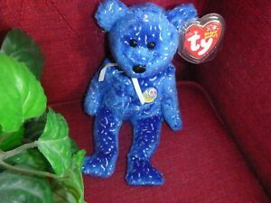 TY Beanie Baby - DECADE the Bear Royal Blue Version > Plush collectible BUY NOW