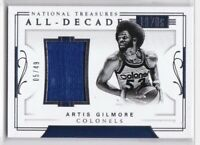 2017-18 Artis Gilmore #/49 Panini National Treasures All-Decade Jersey