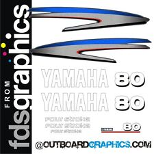 Yamaha 80hp four stroke outboard engine decals/sticker kit