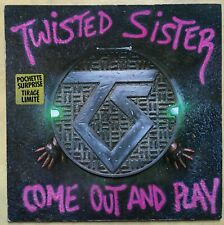 VINYLE 33 TOURS TWISTED SISTER COME OUT AND PLAY 7812751 FRANCE 1985 LP INSERT