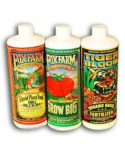 FOX FARM TRIPLE PACK 1L x 3 TIGER BLOOM, GROW BIG, BIG BLOOM/free postage/wow!