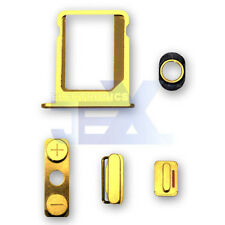 Gold Button & Sim Tray Set for iPhone 4/4G GSM ATT Volume/Power/Silent Switch