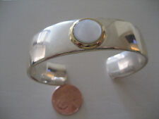 Tiffany & Co Sterling Silver 925 & 18k Yellow Gold 750 Mother-of-Pearl Bangle