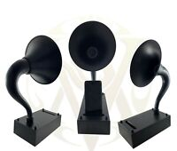 Gramophone Speaker With Beautiful Black Finish Acoustic Amplifier Speaker Gift