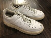 Nike Air Force 1 BG Low White Basketball Shoes 314192-117 Sz 6Y Womens Youth