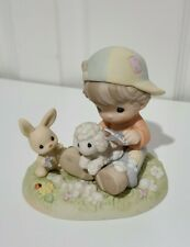 Precious Moments Country Lane Shear Happiness And Hare Cuts Boy Figurine