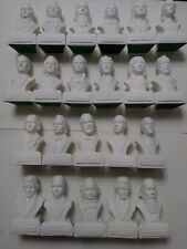 NEW! Set of 22 Composer Heads PORCELAIN Statuettes Busts  FREE SHIPPING