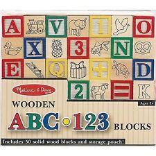 Wooden Abc123 Blocks Melissa & Doug Classic Toy