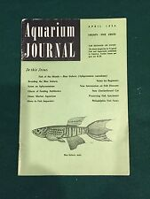 Aquarium Journal Magazine, April 1954