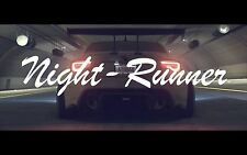 Night Runner Banner Japanese Decal Sticker - Illest Lowered JDM Stance Drift