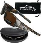 Fishoholic Polorized UV400 Sunglasses w/Case Camo Amber Blue Black Ice Silver