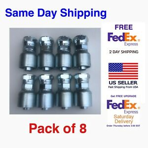 """10643-12-12 PARKER AFTERMARKET HYDRAULIC HOSE FITTINGS 3/4""""  FEMALE JIC, 8 PACK"""