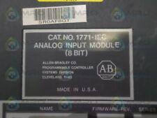 ALLEN BRADLEY 1771-IEC SER. A F/W D ANALOG INPUT MODULE * USED *
