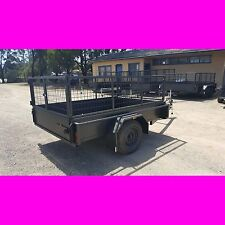 8x5 heavy duty box trailer with cage local made quality trailer