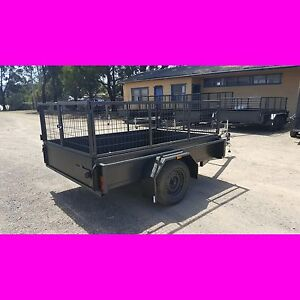 8x5 galvanised heavy duty box trailer with cage brand new local made trailer