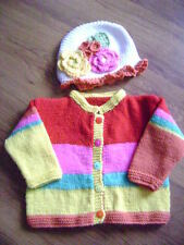 "New Multi Colour Jacket and Matching Floral Hat 24/26"" chest"