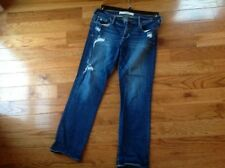 Womens Abercrombie and Fitch Ripped Jeans Stretch Size 6 W28 Mint Condition