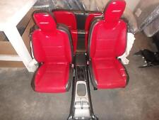10-15 CHEVROLET CAMARO FRONT REAR SEAT CONSOLE RED BLACK LEATHER POWER CPE OEM
