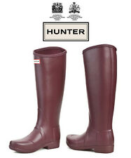 Hunter Original Wellington Sandhurst Nylon-Lacquer - Burgandy - Size 3