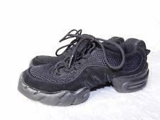 Bloch Boost DRT Split Sole High Arch Dance Sneaker Black Mesh Suede 6.5 fit 5.5