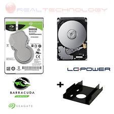 HARD DISK INTERNO 2,5 500 GB SATA NOTEBOOK PC ST500LM030+ADATTATORE SSD LC POWER