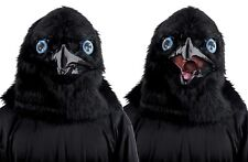 Black Raven Mask Men Adult Masquerade Animated Sound Animal Moveable Mouth