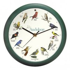 "Mark Feldstein & Associates Audubon Singing Bird Clock, 8"", New, Free Shipping"