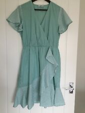 LA REDOUTE LADIES TIE WAIST STRIPED DRESS YELLOW NEW ref 383