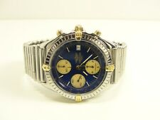 BREITLING WINDRIDER B13048 CHRONOMAT STAHL/GOLD AUTOMATIC ZB BLAU ROLLEAUXBAND