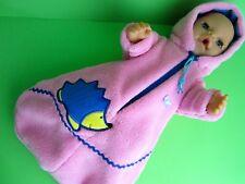 Für Baby Born/ Krümel Puppe 43 Schlafsack  -Igel-