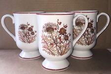 Fanci Florals Collection BRAMBLE Mug Cup <Set of 3>Japan Wildflowers Brown