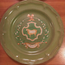 Nikko COUNTRY MARKET SAGE GREEN Cow Luncheon Plate, Branded 3 Available