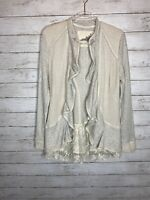 Anthropologie Angel of the North Gray Cardigan Sweater Size L stunning