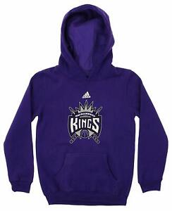 Adidas NBA Youth Sacramento Kings Primary Logo Fleece Hoodie, Purple
