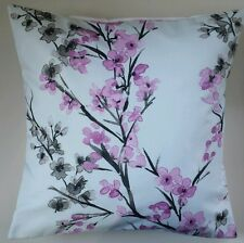 """Cushion Cover in Next Oriental Blossom Butterfly Floral 16"""" Matches Curtains"""