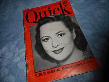 Olivia De Havilland Covers March 1950 Quick  Mini Magazine
