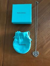 Authentic Tiffany & Co. Enchant Heart Necklace Sterling Silver 18""