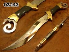 "17""OZAIR CUSTOM MIRROR POLISH D2 STEEL FULL TANG NIGHT STALKER BOWIE KNIFE OZ143"