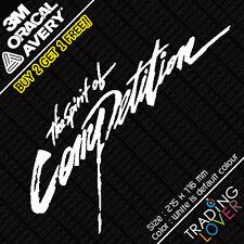 The Spirit of Competition Mitsubishi Ralliart Logo Vinyl Sticker EVO JDM DRIFT