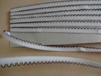 1,20€/m-Gummiband,Gummilitze ,Wäschegummi,Masken  weiß schwarz 3mx8mm