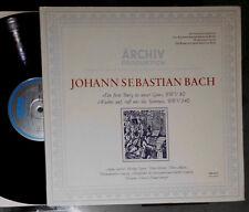 BACH KANTATE BWV 80 & 140 GIEBEL TÖPPER THOMANERCHOR ERHARD MAUERSBERGER LP