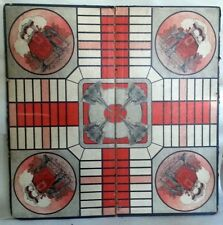 Early Parchessi Game Board, The Game of India, Phillips Company, early 20th C