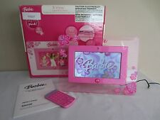 """2007 Barbie B-View 7"""" Pink Digital Photo Picture Frame USB & SD/MMC Memory Card"""