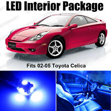 6 x Premium Blue LED Lights Interior Package Deal Toyota Celica 2002-2005 + Tool