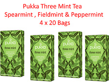 4 x 20 Tea bags PUKKA Three Mint * Spearmint , Fieldmint & Peppermint (80 bags)