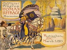 POLITICAL PROPAGANDA SUFFRAGE WOMEN USA VOTES VINTAGE ADVERT POSTER 1920PYLV