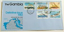 The Gambia First Day Cover River Craft Definitive Issue 1983 - V RARE