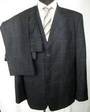 Paul Smith London Mens Blue Plaided Wool Suit Pants & Jacket Sz 44 Used Italy