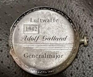 German   WW2   Adolf Galland  Luftwaffe  pocket watch